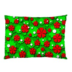 Xmas flowers Pillow Case (Two Sides)