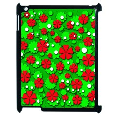 Xmas flowers Apple iPad 2 Case (Black)