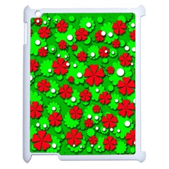 Xmas flowers Apple iPad 2 Case (White)