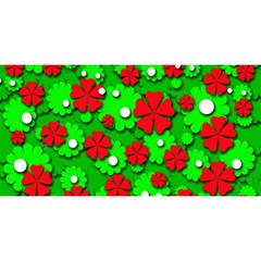 Xmas flowers YOU ARE INVITED 3D Greeting Card (8x4)