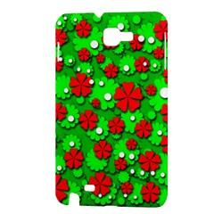 Xmas flowers Samsung Galaxy Note 1 Hardshell Case