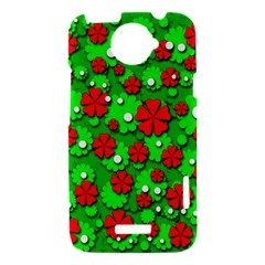 Xmas flowers HTC One X Hardshell Case