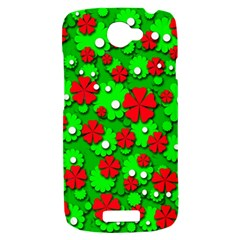 Xmas flowers HTC One S Hardshell Case