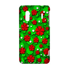 Xmas flowers HTC Evo Design 4G/ Hero S Hardshell Case