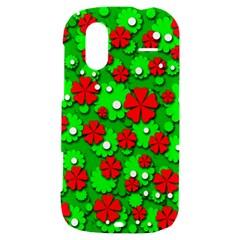 Xmas flowers HTC Amaze 4G Hardshell Case