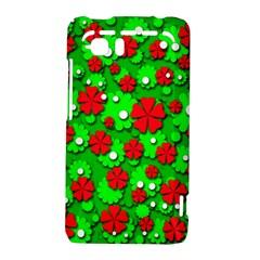 Xmas flowers HTC Vivid / Raider 4G Hardshell Case