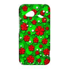 Xmas flowers HTC Droid Incredible 4G LTE Hardshell Case
