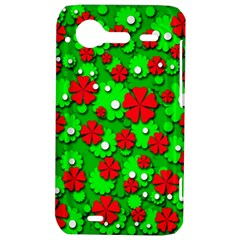 Xmas flowers HTC Incredible S Hardshell Case