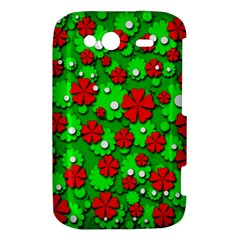 Xmas flowers HTC Wildfire S A510e Hardshell Case