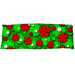 Xmas flowers Body Pillow Case Dakimakura (Two Sides)