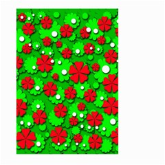 Xmas flowers Large Garden Flag (Two Sides)