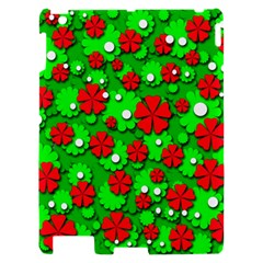 Xmas flowers Apple iPad 2 Hardshell Case