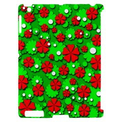 Xmas flowers Apple iPad 2 Hardshell Case (Compatible with Smart Cover)
