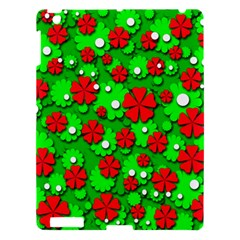 Xmas flowers Apple iPad 3/4 Hardshell Case