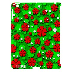 Xmas flowers Apple iPad 3/4 Hardshell Case (Compatible with Smart Cover)