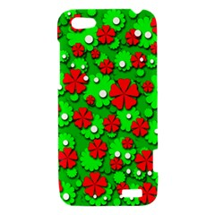 Xmas flowers HTC One V Hardshell Case