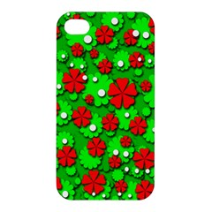 Xmas flowers Apple iPhone 4/4S Premium Hardshell Case