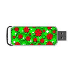 Xmas flowers Portable USB Flash (Two Sides)