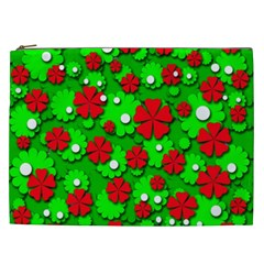 Xmas flowers Cosmetic Bag (XXL)