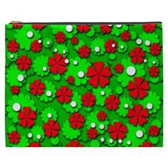 Xmas flowers Cosmetic Bag (XXXL)