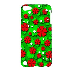 Xmas flowers Apple iPod Touch 5 Hardshell Case