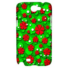 Xmas flowers Samsung Galaxy Note 2 Hardshell Case