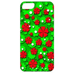 Xmas flowers Apple iPhone 5 Classic Hardshell Case
