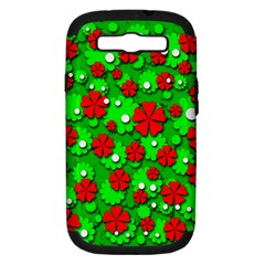 Xmas flowers Samsung Galaxy S III Hardshell Case (PC+Silicone)