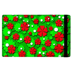 Xmas flowers Apple iPad 3/4 Flip Case