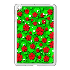 Xmas flowers Apple iPad Mini Case (White)
