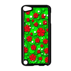 Xmas flowers Apple iPod Touch 5 Case (Black)