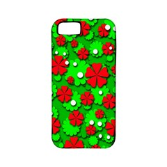Xmas flowers Apple iPhone 5 Classic Hardshell Case (PC+Silicone)