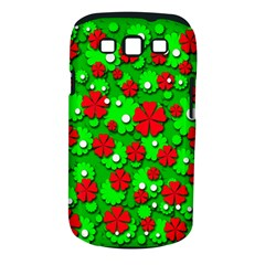 Xmas flowers Samsung Galaxy S III Classic Hardshell Case (PC+Silicone)