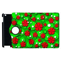 Xmas flowers Apple iPad 2 Flip 360 Case