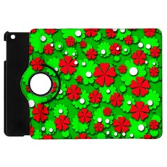 Xmas flowers Apple iPad Mini Flip 360 Case