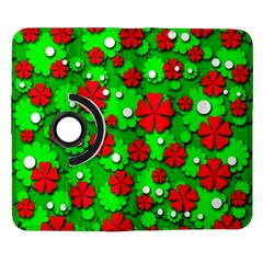 Xmas flowers Samsung Galaxy Note II Flip 360 Case