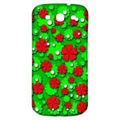 Xmas flowers Samsung Galaxy S3 S III Classic Hardshell Back Case