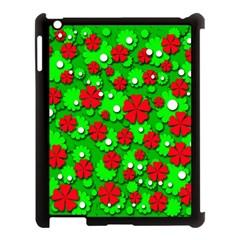 Xmas flowers Apple iPad 3/4 Case (Black)