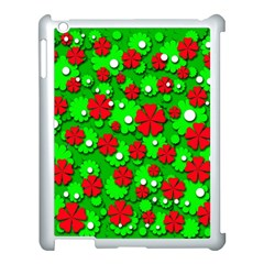 Xmas flowers Apple iPad 3/4 Case (White)