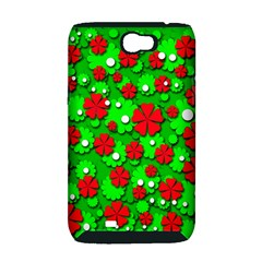 Xmas flowers Samsung Galaxy Note 2 Hardshell Case (PC+Silicone)