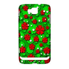 Xmas flowers Samsung Ativ S i8750 Hardshell Case