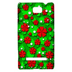 Xmas flowers HTC 8S Hardshell Case