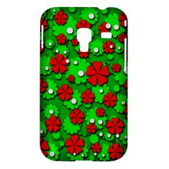 Xmas flowers Samsung Galaxy Ace Plus S7500 Hardshell Case
