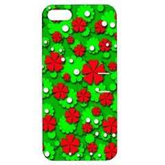 Xmas flowers Apple iPhone 5 Hardshell Case with Stand
