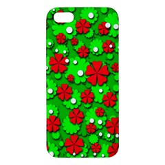 Xmas flowers Apple iPhone 5 Premium Hardshell Case