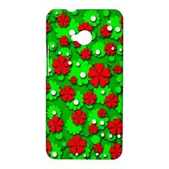 Xmas flowers HTC One M7 Hardshell Case