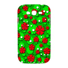 Xmas flowers Samsung Galaxy Grand DUOS I9082 Hardshell Case