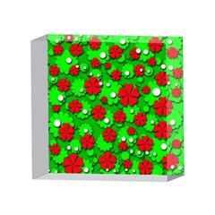 Xmas flowers 4 x 4  Acrylic Photo Blocks