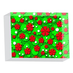 Xmas flowers 5 x 7  Acrylic Photo Blocks