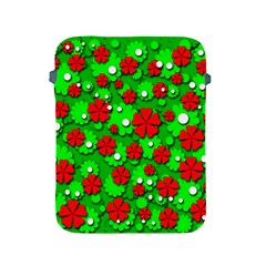 Xmas flowers Apple iPad 2/3/4 Protective Soft Cases
